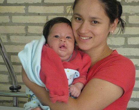 Ezequiel Diaz und seine Mama.